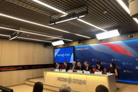 В.И. Бартенев выступил на пресс-конференции «Восстановление Сирии: взгляд из России и ЕС»